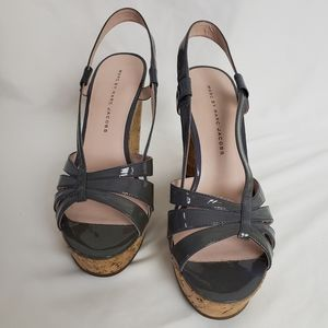 Marc by Marc Jacobs Gray & Cork Wedges